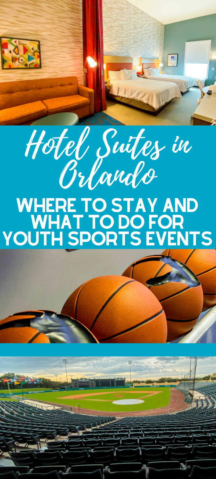 Visiting Orlando for youth sports? Here are some hotel suites in Orlando that are great for groups, as well as activities and things to do.