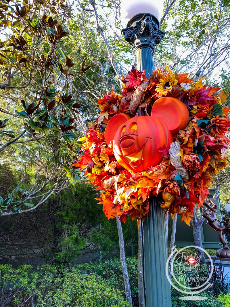 The decor at Mickey's Not So Scary Halloween Party