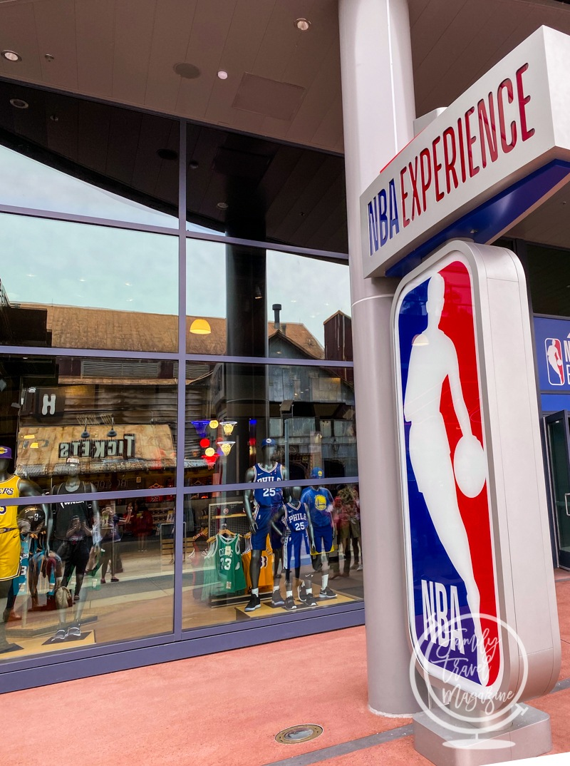 The outside of the NBA Experience