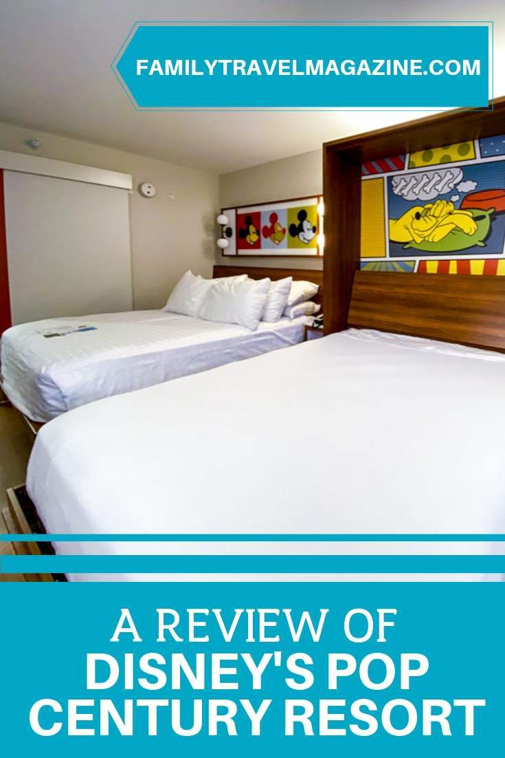 A review of Disney's Pop Century Resort, a value resort located on property at Walt Disney World. This review includes information about the resort pools, the Skyliner, and pictures of the newly renovated Pop Century rooms.