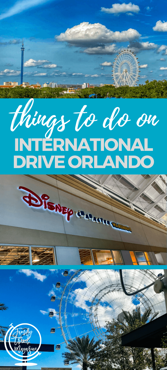 Things to do on International Drive Orlando with kids including shopping, restaurants, the Orlando ICON Park, museums, and more. #orlando #familytravel #travelwithkids