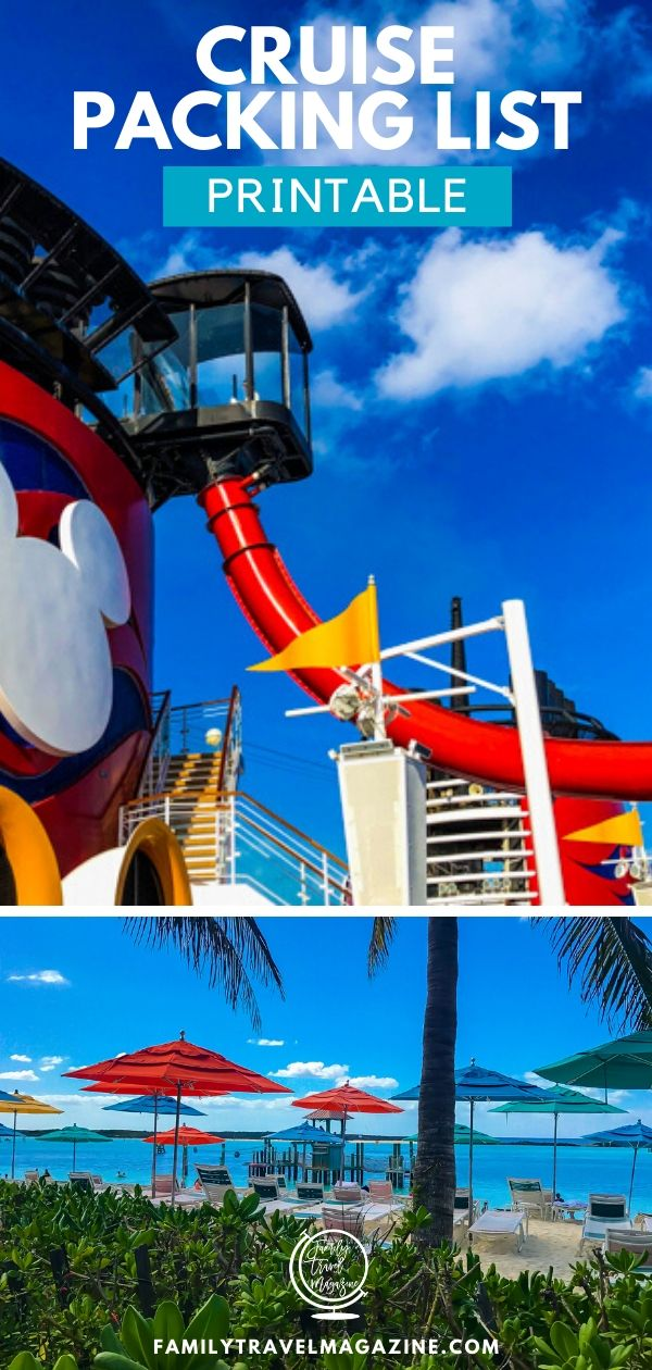 If you are going on a family travel adventure on a cruise, you may wonder what to pack. This post contains what to bring on a cruise, including a printable cruise packing list.