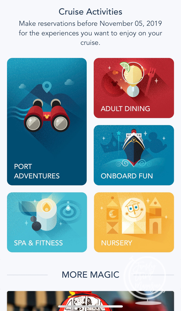 Disney Cruise Line app before your leave