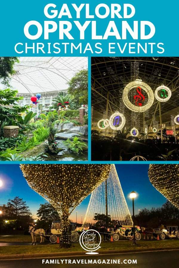 The Gaylord Opryland Hotel Christmas Events - a Country Christmas, including ICE!, carriage rides, Rudolph's Holly Jolly™ Feast, and more.