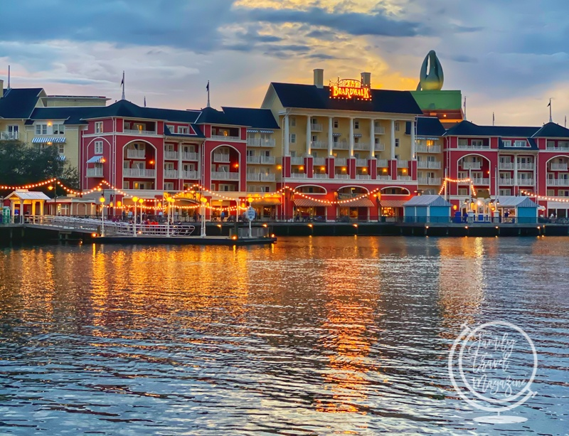 The Disney Boardwalk at twilight