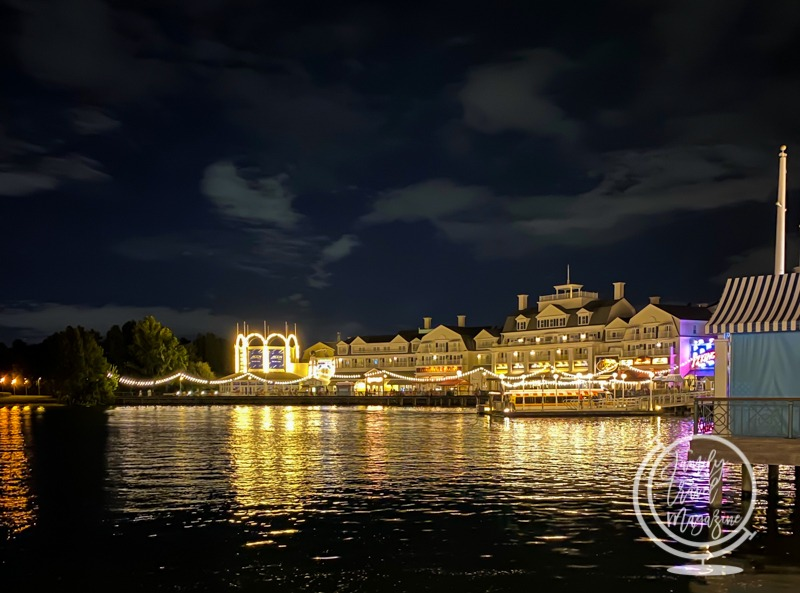 The Disney Boardwalk at Night