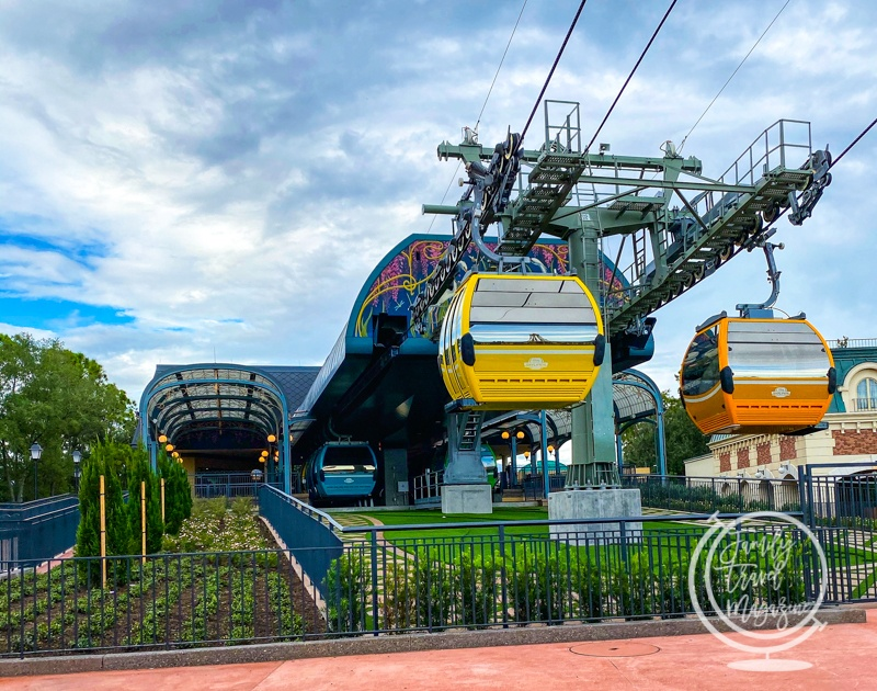 The Skyliner outside of Epcot