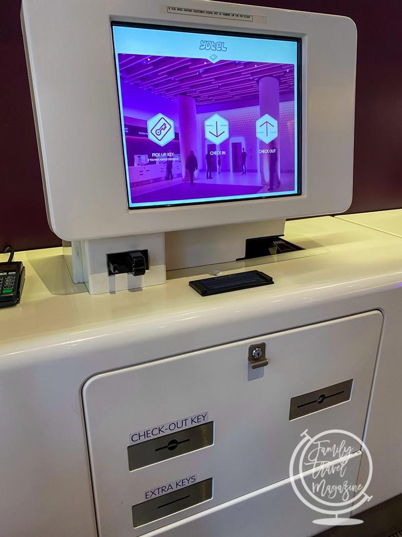 Check in kiosk at the Yotel