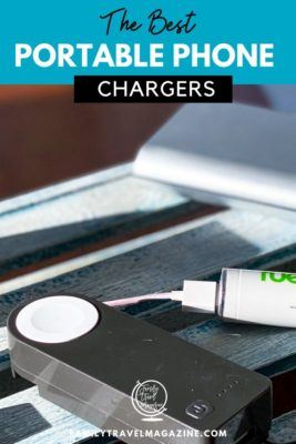 The best portable phone chargers so that you can keep your phone charged on the go. Includes chargers with cords and suitcases with built in chargers.