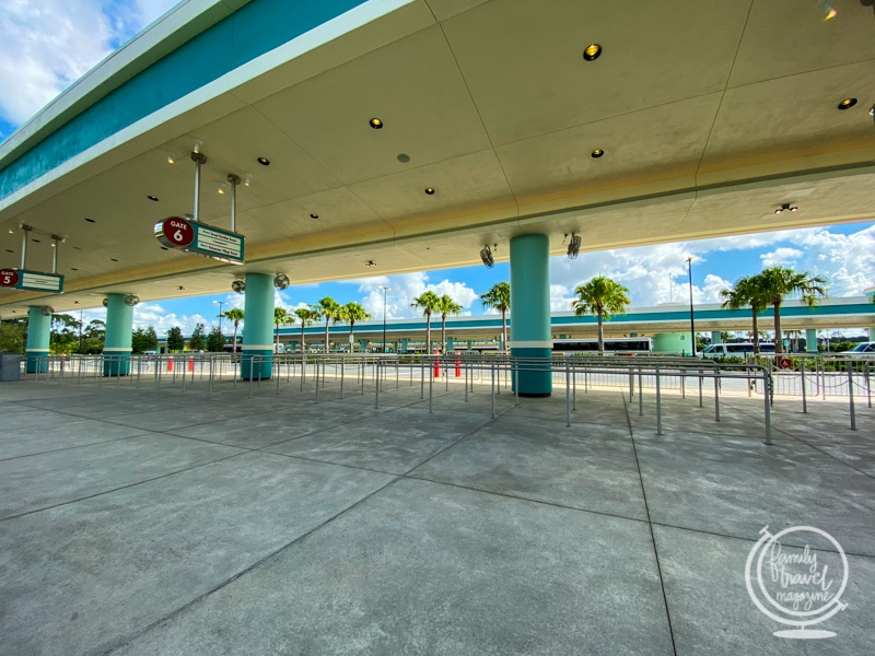 Bus stops at Disney's Hollywood Studios Orlando