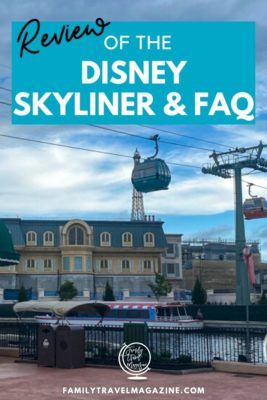 A review of the Disney Skyliner and frequently asked questions, including information about the gondolas, and what Disney World resort hotels offer Skyliner stations.