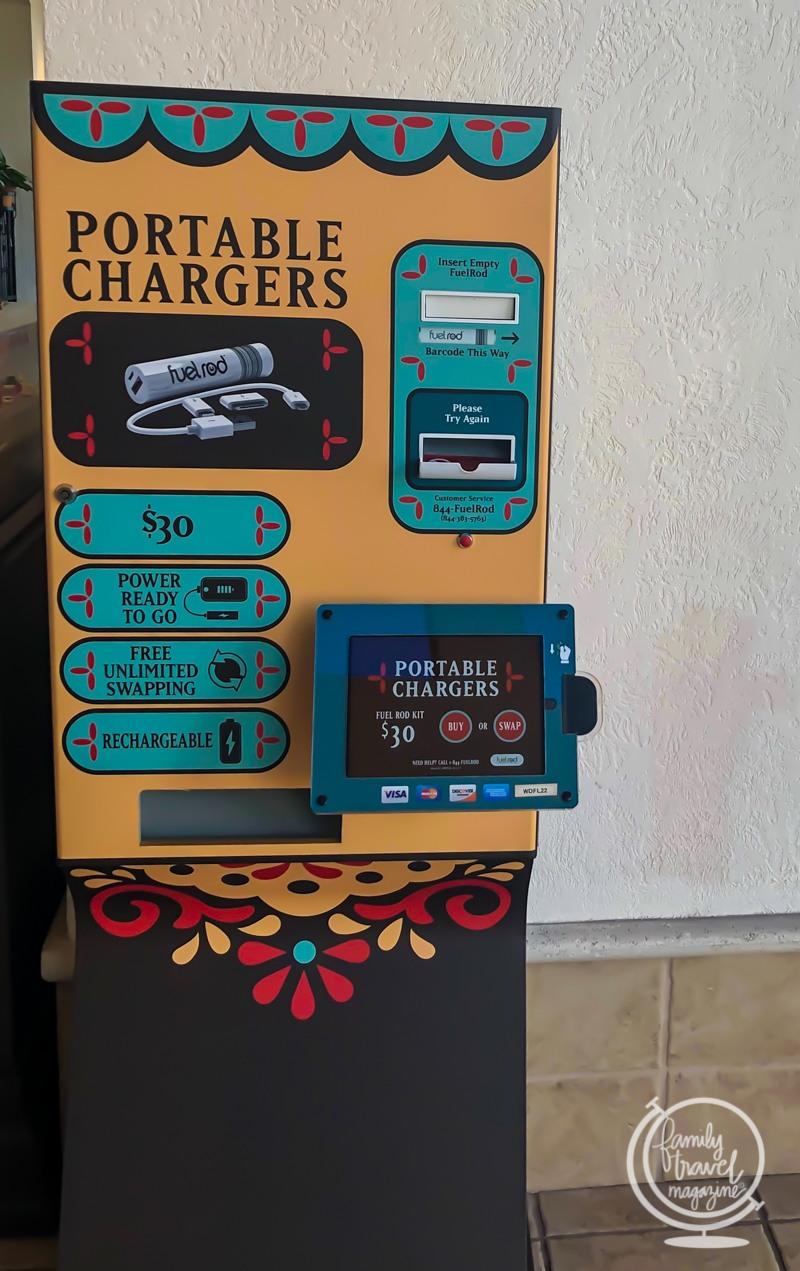 A FuelRod station at Disney's Coronado Springs