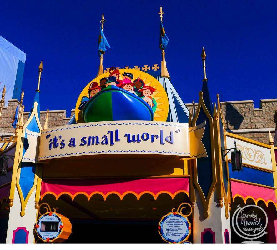 it's a small world at the Magic Kingdom