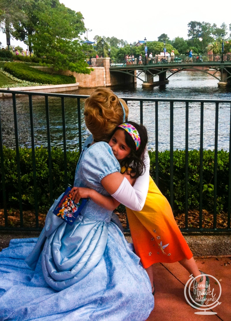 A photo with Cinderella at Epcot