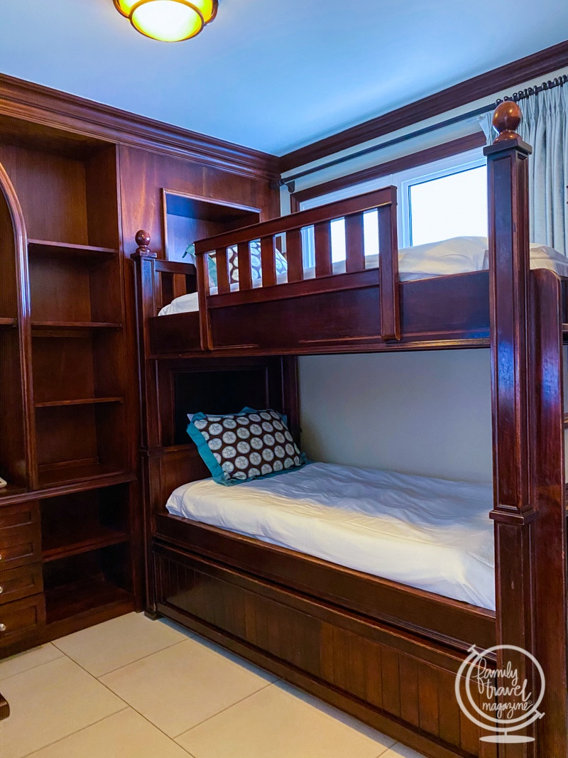 The bunk beds in the family suite at Beaches Turks and Caicos
