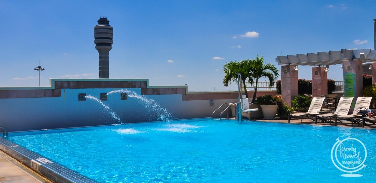 Outdoor pool at the Hyatt Orlando International Airport