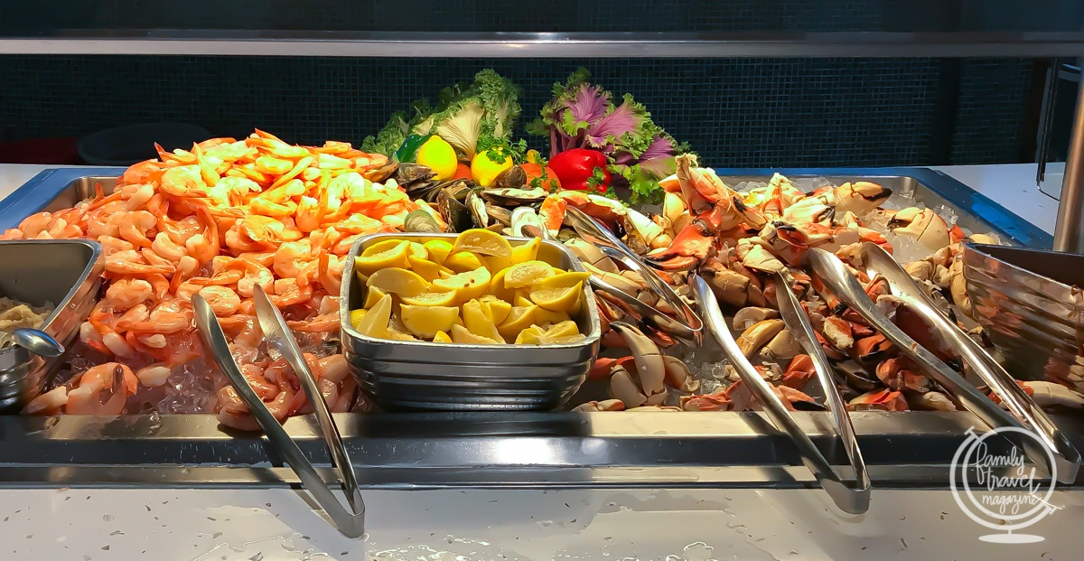 Seafood buffet at Cabanas restaurant on the Disney Dream
