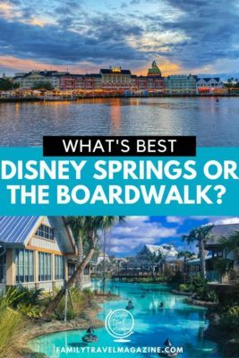 Are you visiting Walt Disney World and wondering where to visit, Disney Boardwalk or Disney Springs? Here's everything you need to know to make a decision.