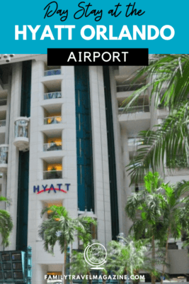 The Hyatt Orlando International Airport is extremely convenient for guests flying in and out of the airport, and it also offers day stay rooms for guests.