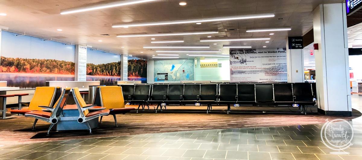 A gate at Logan Airport