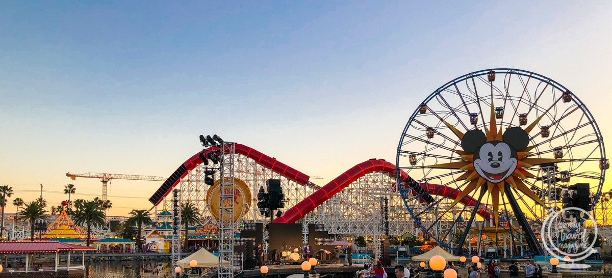 Pixar Pier at Sunset