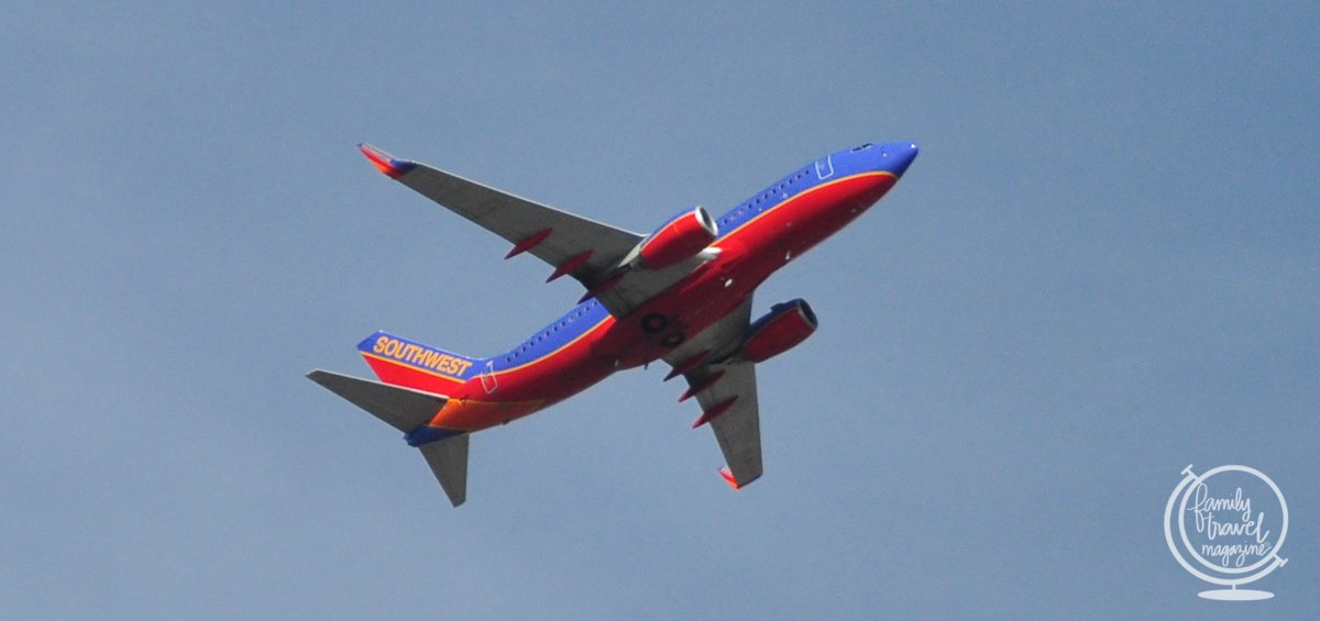 Southwest plane in the air