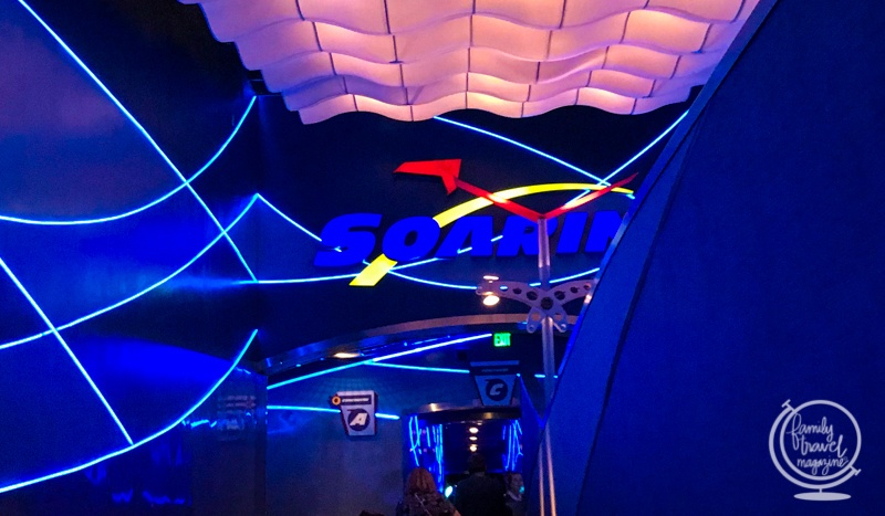 The ride entrance to Soarin' in Epcot