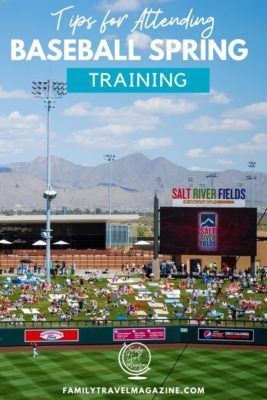 Tips for attending baseball spring training in Phoenix. Includes information about which teams play in the Cactus League, which hotels to stay in, and what other family activities to enjoy.
