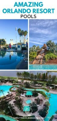 If you are visiting Orlando with kids, you may want to stay at a hotel with one of these amazing Orlando resort pools. They include indoor pools, pools with lazy rivers, and waterslides.