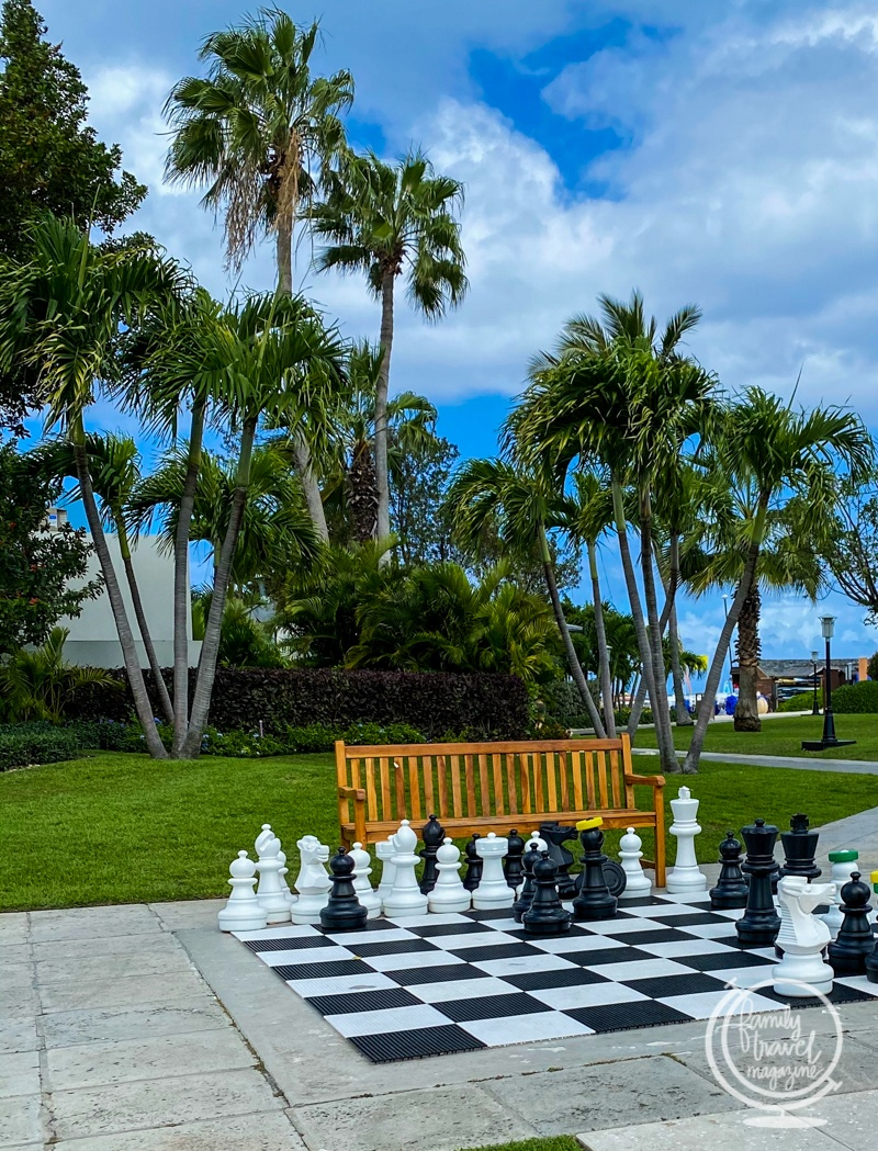 Large chess board at Beaches Turks and Caicos