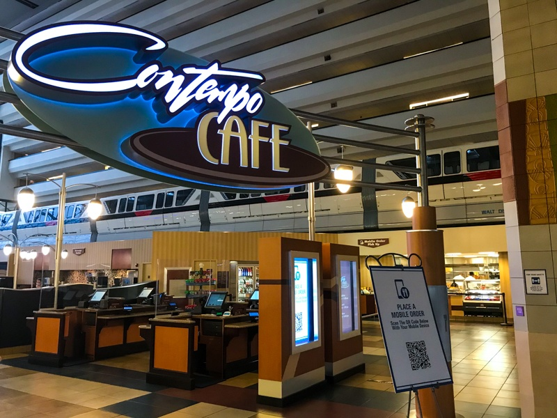 Mobile ordering at Contempo Cafe