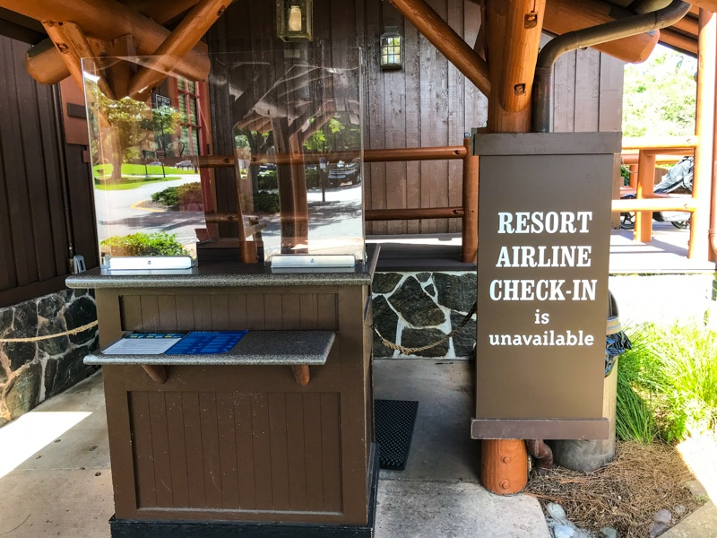 Resort airline check-in is currently unavailable