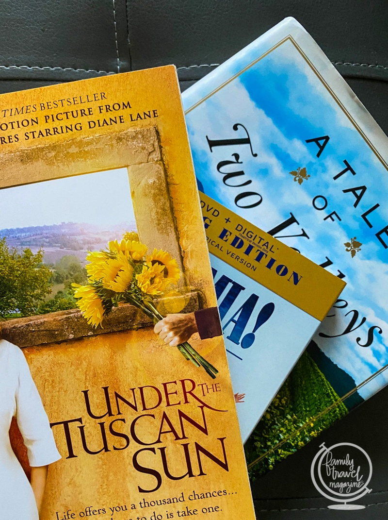 Purchase books and movies for travel gifts
