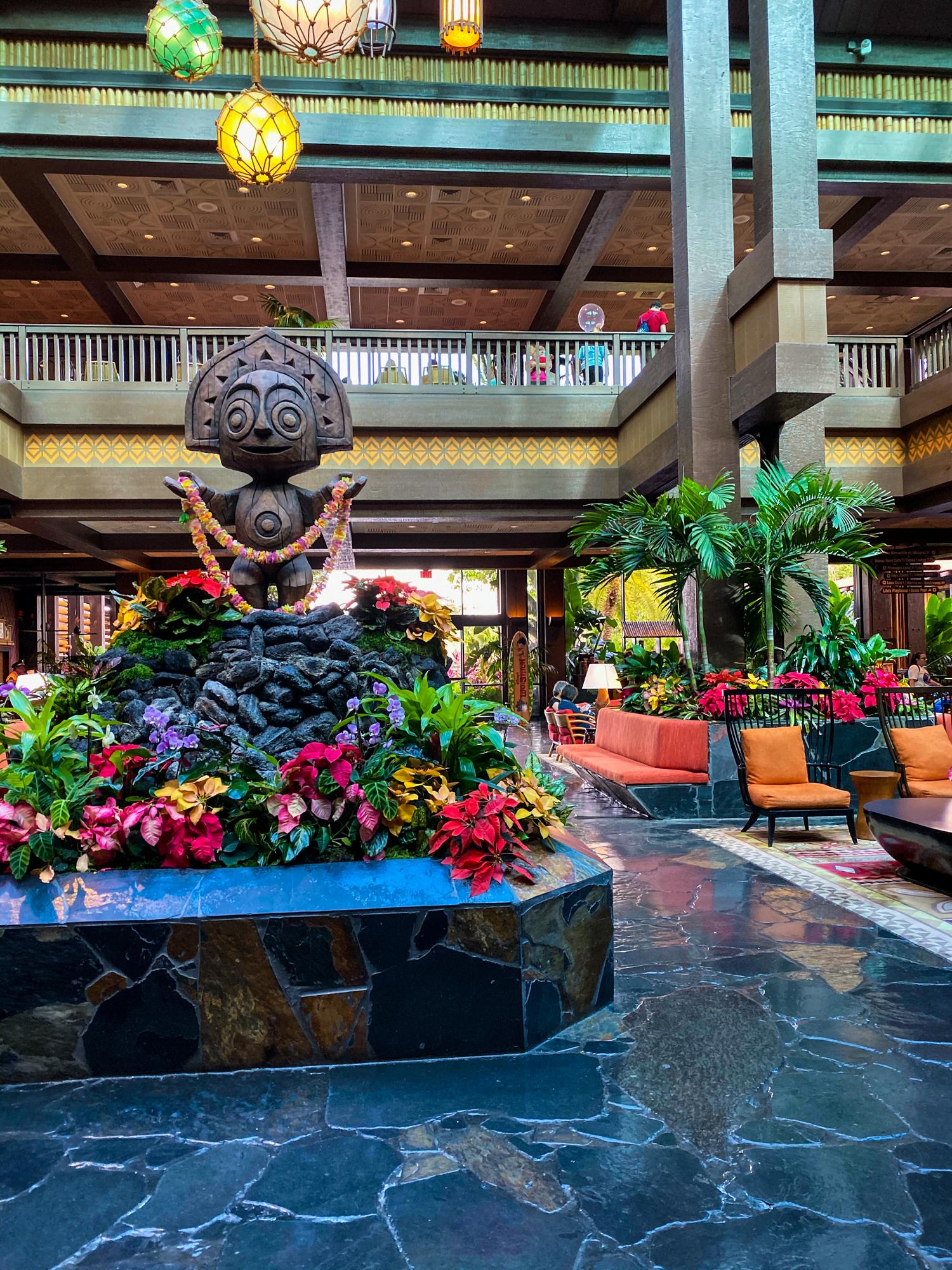 Lobby of Disney's Polynesian