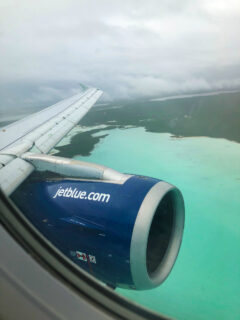 Jetblue Wing over Caribbean