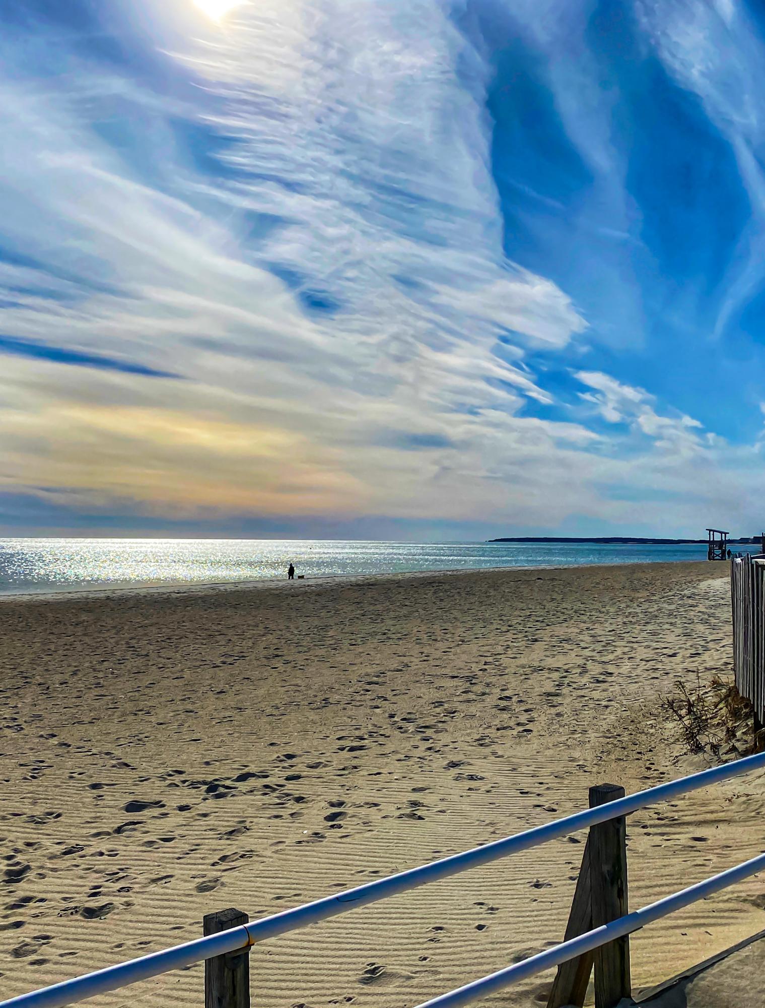 Beach with pretty sky