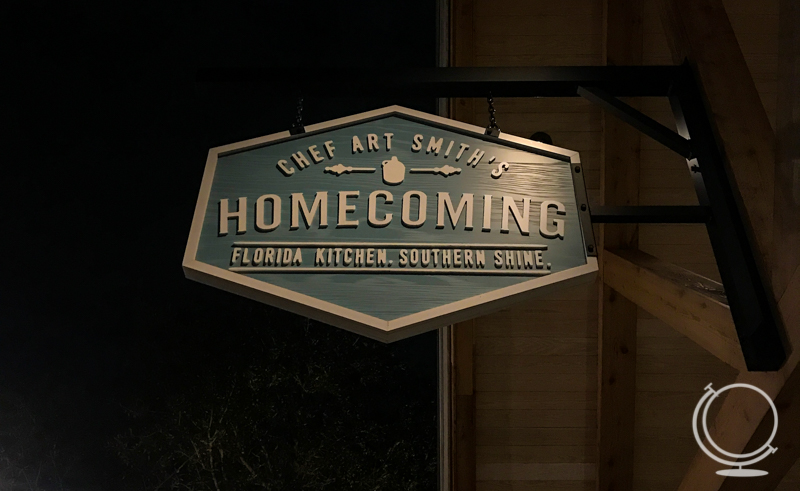 Sign for Art Smith's Homecomin