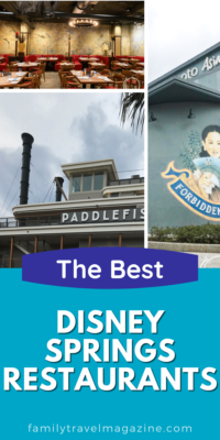 The Best Disney Springs restaurants, including fine dining, quick service, table service, and kiosks throughout the various Disney Springs districts.