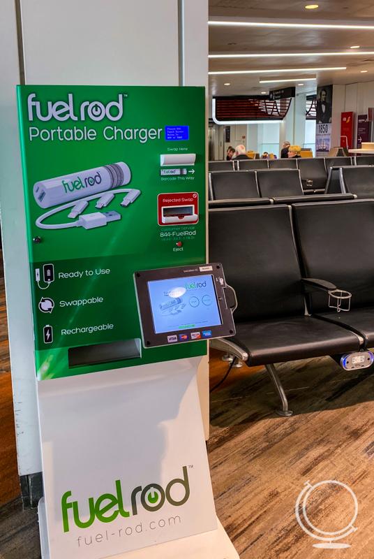 FuelRod kiosk at Boston's Logan Airport