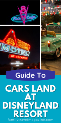 Cars Land, located in Disney's California Adventure at Disneyland, offers three rides, several snack/food locations, gift shops, and amazing theming.