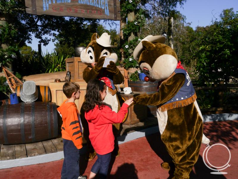 Chip n Dale at Disney World
