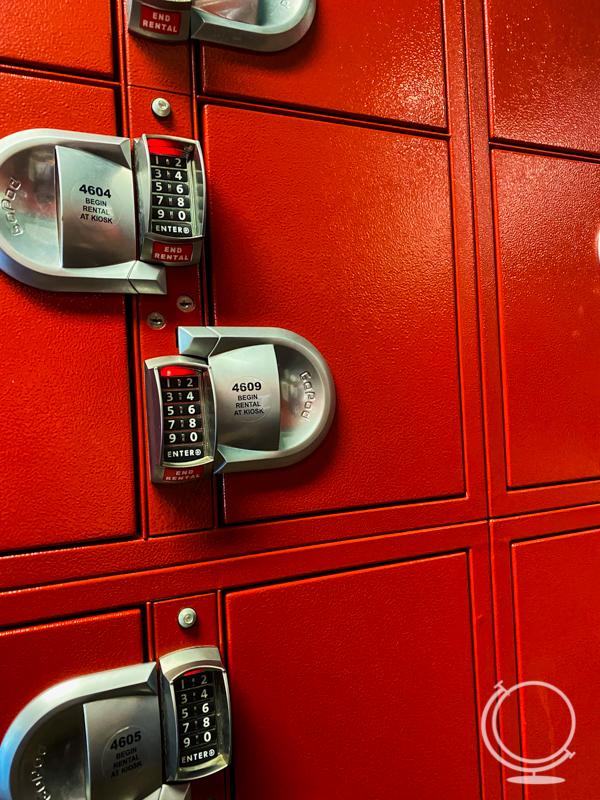 lockers at Disneyland