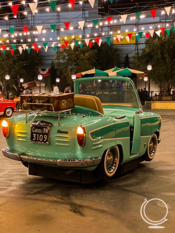 A car on the Luigi ride