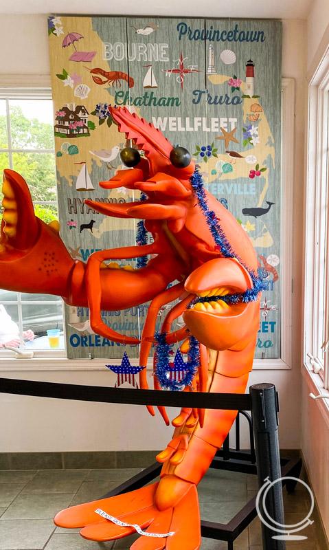 Seafood Sam's lobster statue