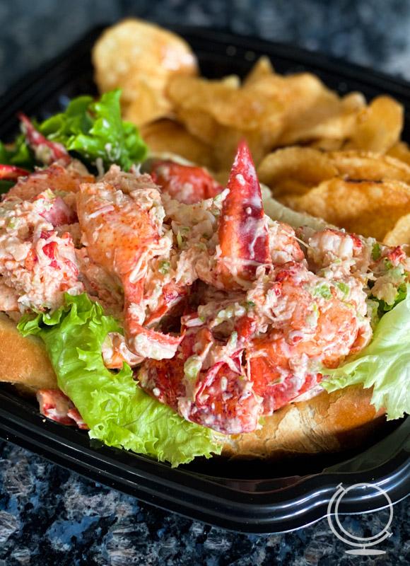 Lobster roll at Skipper Chowder House