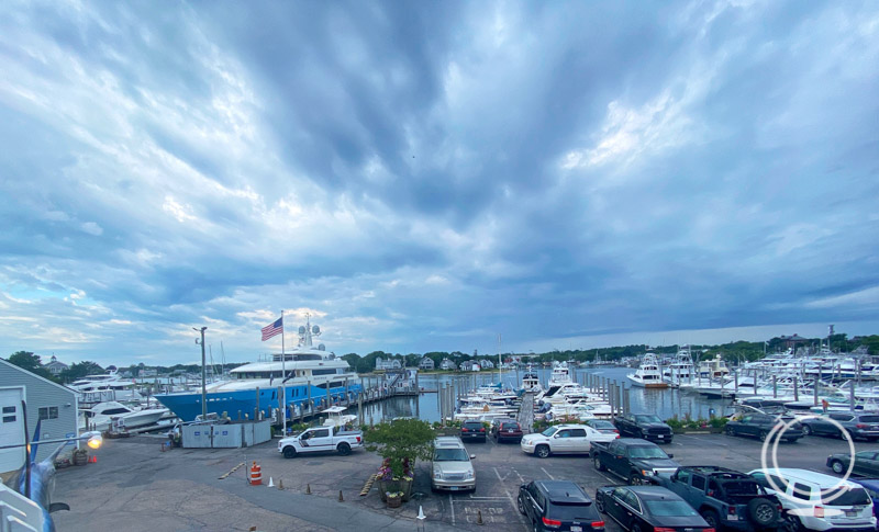 Tugboats view of Hyannis Marina