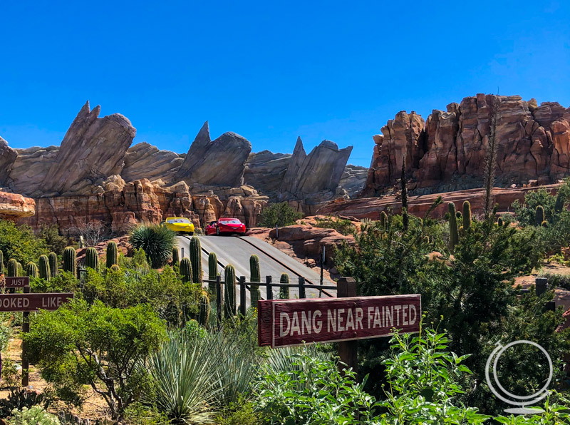Two cars at Radiator Springs Racers