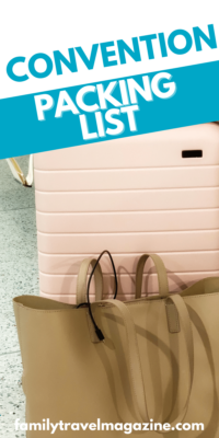 Do you need some help packing and planning for your next convention? Here's a convention packing list to make things easier including a printable packing list.