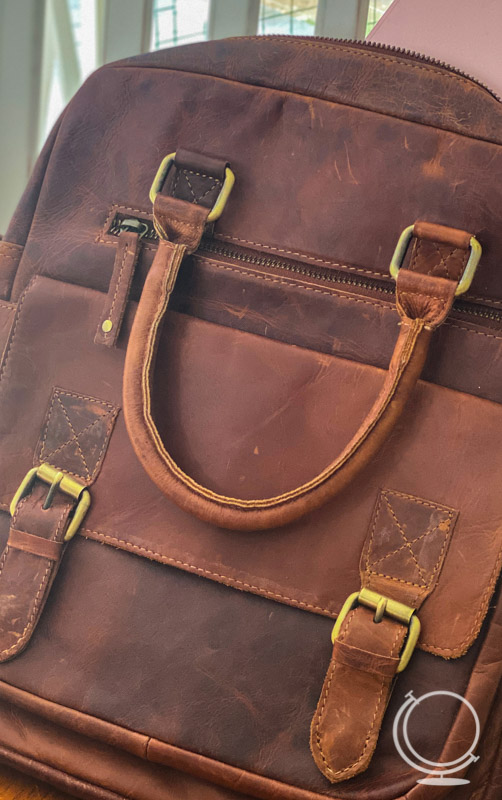 Leather tote from Amazon
