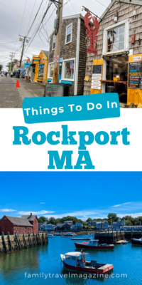 Things to do when visiting Rockport, Massachusetts with kids including shopping in Bearskin Neck and visiting the Paper House.